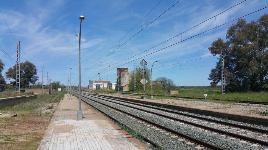 Restos del asentamiento en torno a la estación