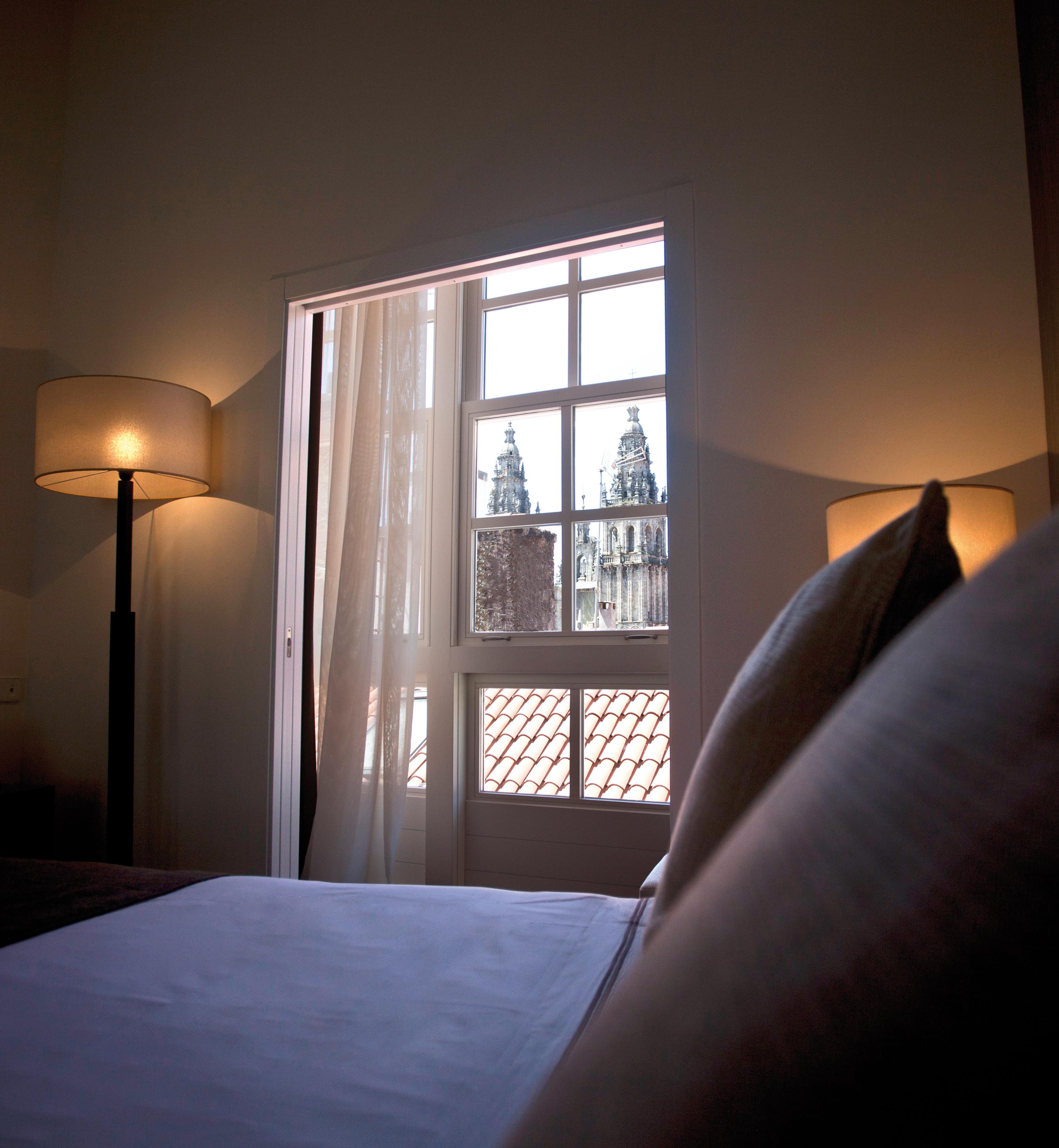 Interior de una de las habitaciones del hotel