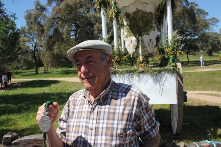 Uno de los fundadores de la Romería del Alcornoque